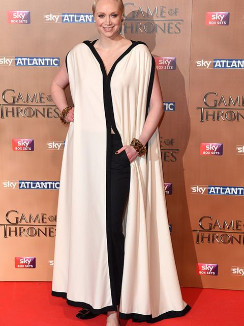 Gwendoline Christie attends the UK premiere of 'Game of Thrones: Season 5' at the Tower of London, March 2015.