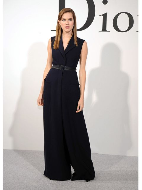 <p>Allison Williams attends the Christian Dior Cruise 2015 show, New York.</p>