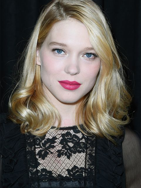 <p><strong>Old school glamour</strong></p>  <p>When Léa Seydoux was confirmed to play the Bond girl in No.24 we developed even more of a crush on her.</p>  <p>There are many an attribute that maketh a good Bond girl: glamour, sass, wit and, not least, dam