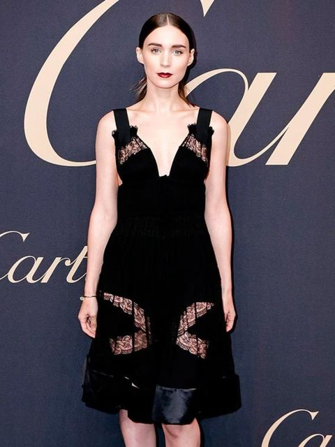 <p>Rooney Mara at the Panthere De Cartier 'Women Who Dare' event in New York wearing Givenchy by Riccardo Tisci, November 2014.</p>