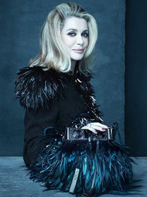 <p>Catherine Deneuve for Louis Vuitton, spring/summer 2014</p>