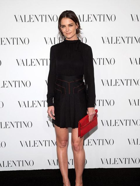 Katie Holmes at the Valentino Sala Bianca 945 Event in New York, December 2014.