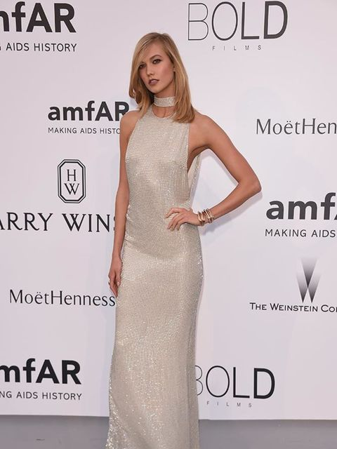 <p>Karlie Kloss in Tom Ford at amfAR's 22nd Cinema Against AIDS Gala, presented by Bold Film and Harry Winston at the Cannes Film Fesitval, May 2015.</p>