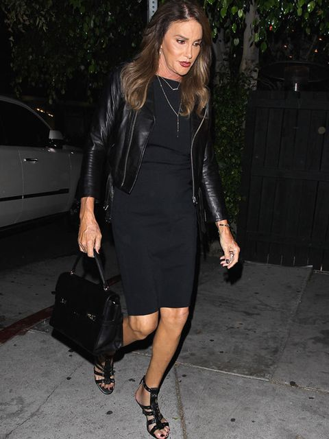 Caitlyn Jenner on her way to Kylie's 18th celebration in LA, August 2015.
