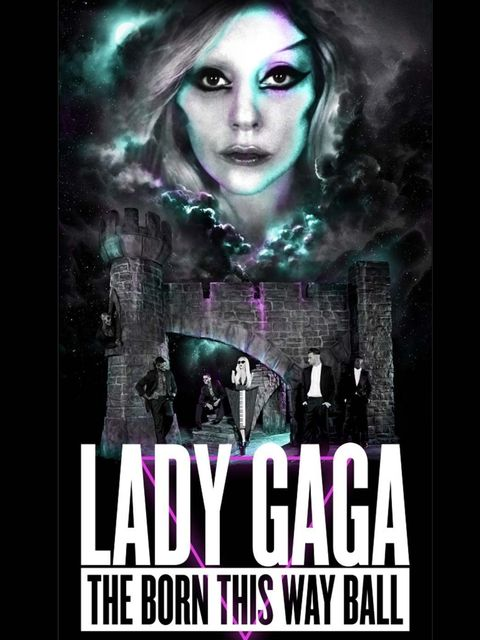 <p>The poster for Lady Gaga's Born This Way Ball tour</p>