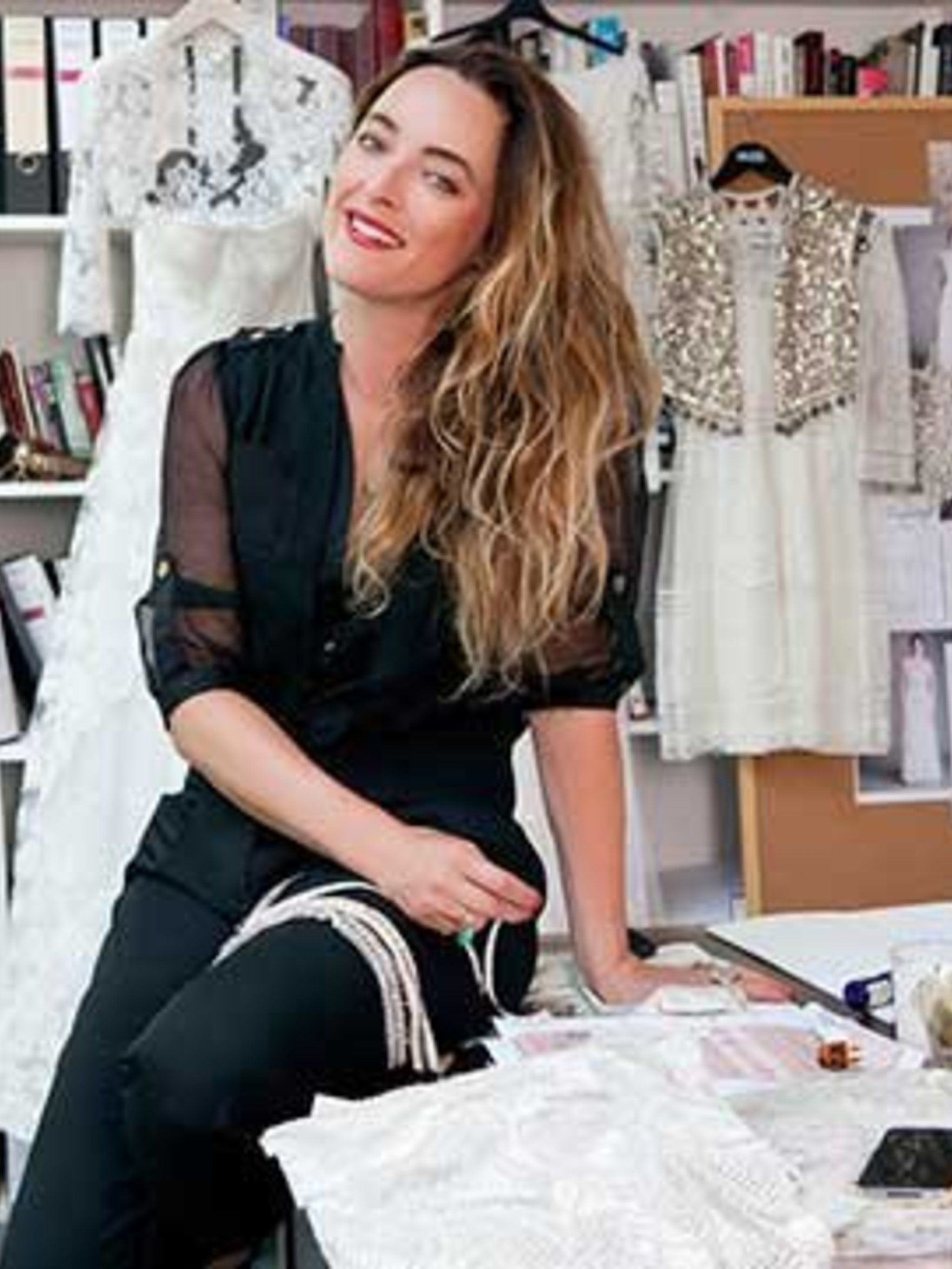 <p>Alice Temperley in her studio</p>