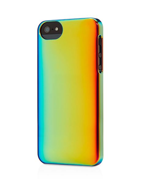 "<p>Precious metallics . . </p><p>Iridescent metallic iPhone 5 cover £24.95 from <a href=""http://store.apple.com/uk/product/HC374ZM/A/adopted-iridescent-case-for-iphone-5?fnode=47"">Apple</a></p>"