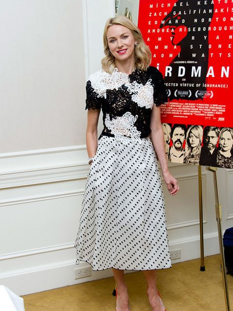 Naomi Watts at the at the Birdman Press Conference in New York, October 2014.