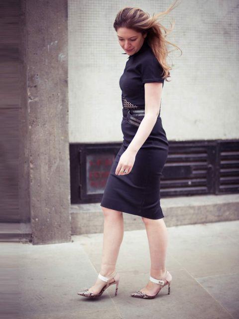 <p>Natasha Pearlman, Deputy Editor:</p><p>Victoria Beckham dress, Preen for Aldo Rise shoes</p>