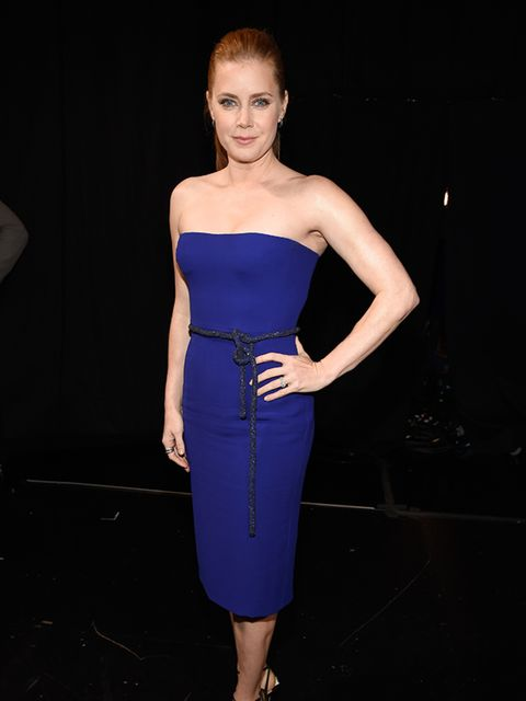 <p>Amy Adams wears Gucci at the People's Choice Awards in Los Angeles, January 2015.</p>