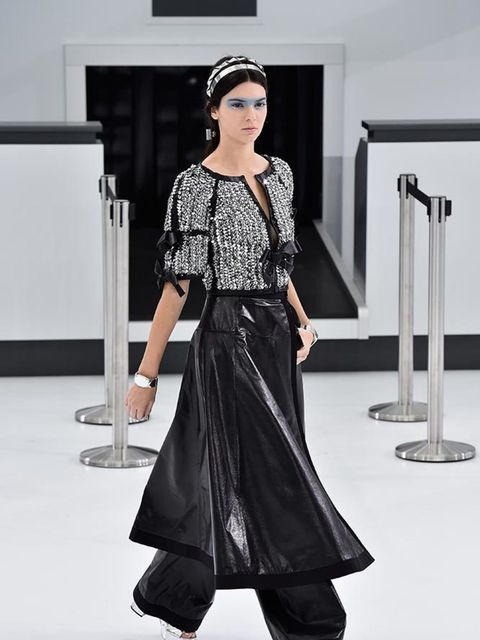 Kendall Jenner on the Chanel catwalk during during Paris Fashion Week, September 2015