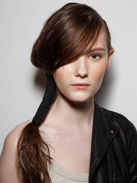 "<p>Bora Aksu</p>  <p>The look: Makeshift ballerina</p>  <p>The hairstylist: Sam Burnett for KMS California</p>  <p>Key product: <a href=""http://www.lookfantastic.com/kms-california-addvolume-volumizing-spray-200ml/10563923.html"" target=""_blank"">KMS Califo"