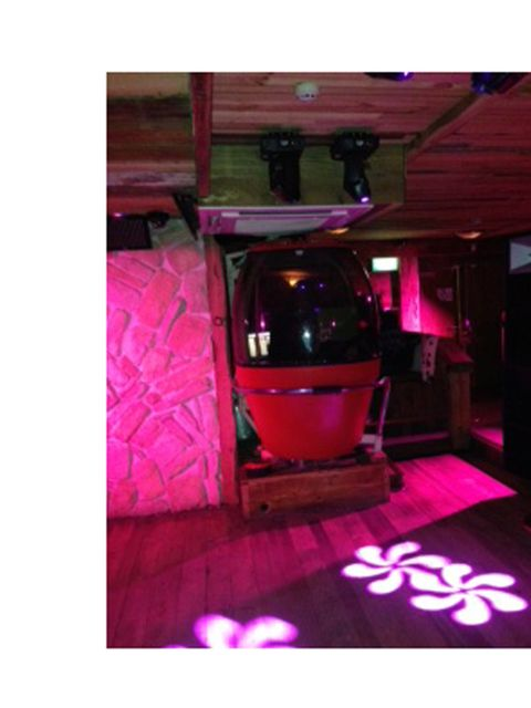 <p>At the end of a long but exciting day we headed to the Sophia Webster after-party at Bodo's Schloss. The ski lodge-style bar complete with ski lift DJ booth was snug and cosy - just what we needed after enduring the days freezing temperatures</p>