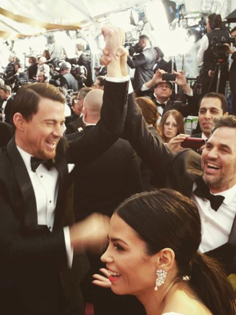 The Academy (@theacademy)  'Channing Tatum and mark Ruffalo goofing around on the red carpet #oscars'