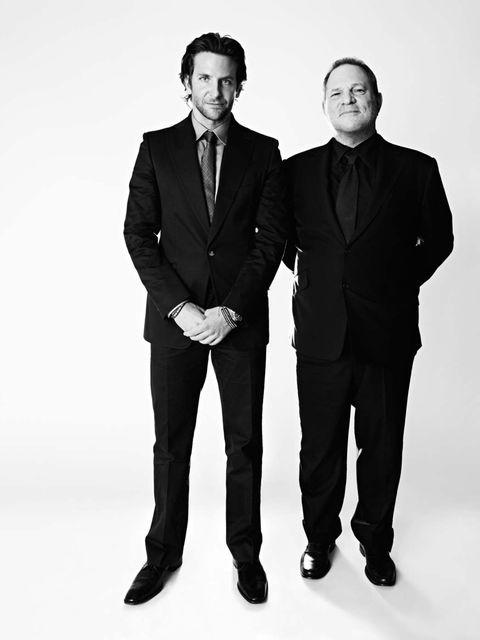 <p>Bradley Cooper and Harvey Weinstein</p>