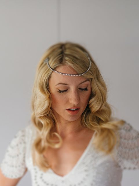 "<p>I had my headpiece made by <a href=""https://www.etsy.com/uk/shop/AgnesHart"" target=""_blank"">Agnes Hart</a>. We sourced original 1920's dress clips and Agnes Hart turned these into a forehead band.</p>"