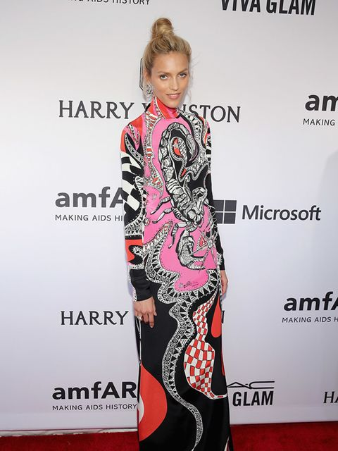<p>Anja Rubik wears Harry Winston jewellery to the the amfAR Inspiration Gala, New York, June 2015.</p>