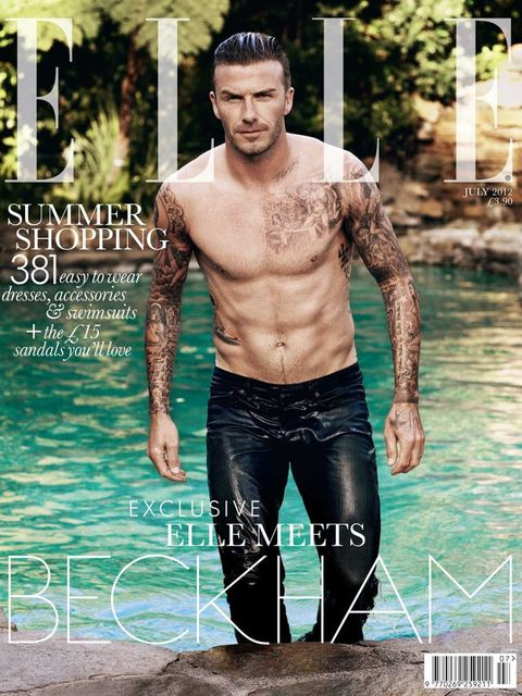 <p>David Beckham on the July 2012 cover</p>