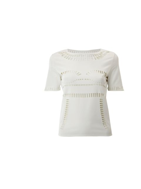 """<p>Here's a name to watch. Since graduating from Central Saint Martin, Yasmin Kianfar's pieces have been snapped up by Opening Ceremony and Avenue 32. And now she's added these uber-cool laser cut tops to the mix… <a href=""""http://www.yasminkianfar.com/"""">Y"""