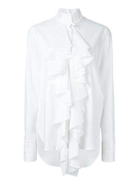 "<p>Cotton ruffle shirt, £674.47, <a href=""http://www.farfetch.com/uk/shopping/women/ellery-ruffle-shirt--item-11337183.aspx?storeid=9689&ffref=lp_pic_37_2_"">Ellery at Farfetch</a></p>"