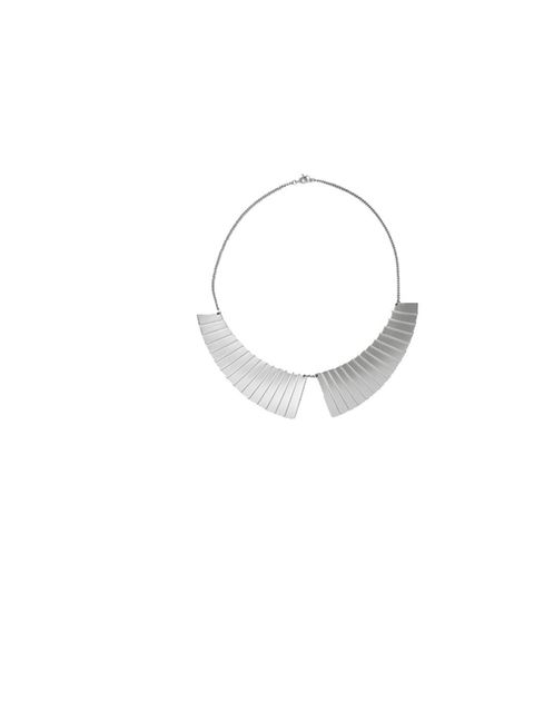 "<p><a href=""http://www.cosstores.com/Store/Women/Jewellery/Metal_collar_necklace/379909-280401.1"">Cos</a> metal collar necklace, £22</p>"