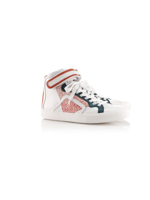 "<p>Pierre Hardy for Mother of Pearl sneakers, £405, at <a href=""http://www.avenue32.com/shoes/all-shoes/thymmus-orange-breakpoint-4102.html"">Avenue 32</a></p>"