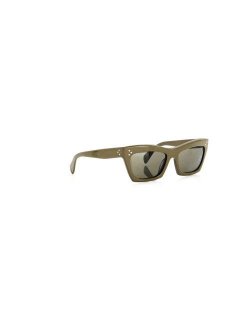 """<p>Celine. Sunglasses. Need we say more? Statement geometric frames in a retro-inspired olive shade. We die… Celine green geometic sunglasses, £200, at Matches</p><p><a href=""""http://shopping.elleuk.com/browse?fts=celine+retro+sunglasses"""">BUY NOW</a></p>"""