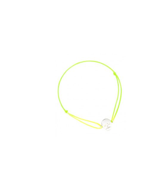 "<p>Chanael K neon skull friendship bracelet, £44, at <a href=""http://www.kabiri.co.uk/designers/chanael-k/neon-yellow-skull-bracelet.html"">Kabiri</a></p>"