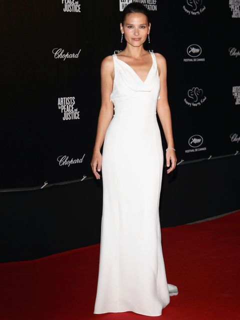"<p>Virginie Ledoyen wearing a white <a href=""http://www.elleuk.com/catwalk/designer-a-z/giorgio-armani/autumn-winter-2012"">Giorgio Armani</a> gown during the <a href=""http://www.elleuk.com/star-style/red-carpet/cannes-film-festival-2012"">65th Cannes Film"