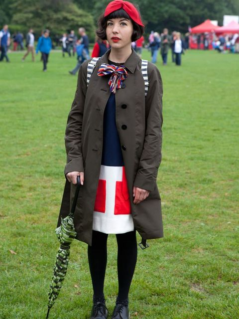 <p>Tilly Hemmingway, 24, Designer. Coat by Aquascutum, dress, bag and scarf all vintage, boots Dr Martens.</p><p>Photo by Rick Kelly</p>