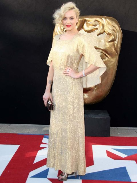 <p>Fearne Cotton at the BAFTA Television Awards 2012 wearing a vintage dress</p>