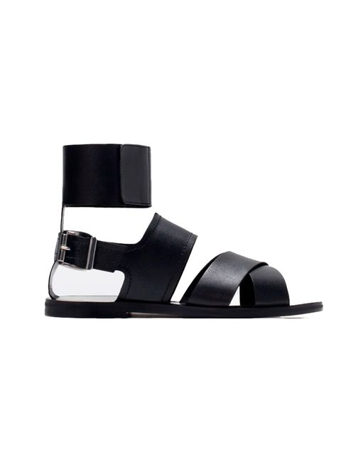 "<p><a href=""http://www.zara.com/uk/en/new-this-week/woman/wide-strap-leather-sandals-c363008p2613022.html"" target=""_blank"">Zara</a> sandal £49.99</p>"