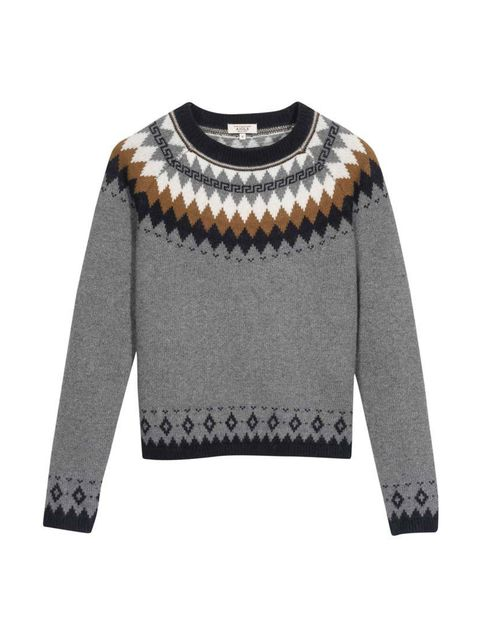 """<p>Just the right amount of novelty winter knit. Just add mulled wine.</p>  <p><a href=""""http://www.aigle.com/en_uk/woolworld-17377.html"""" target=""""_blank"""">Aigle</a> jumper, £90</p>"""