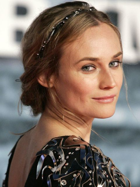 """<p><a href=""""http://blogs.elleuk.com/annabel-meggeson/2009/12/15/party-hair-by-adam-reed/"""">Click here to see how to get another Diane Kruger hairstyle at home...</a></p>"""