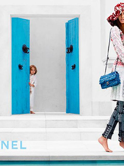 <p>Chanel resort 2015 featuring Joan Smalls and Hudson Kroenig.</p>