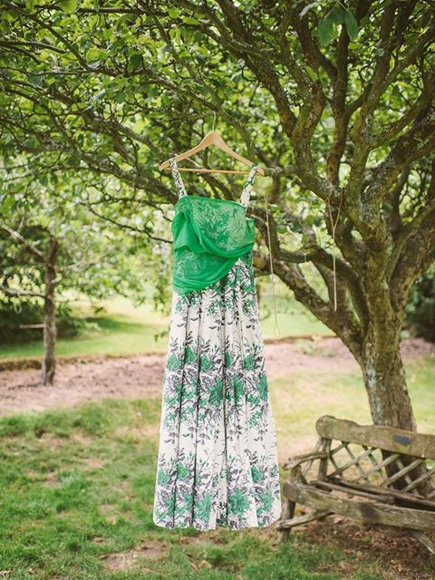 <p>I didn't want to wear a 'wedding' dress. I knew it had to be vintage. At first, I couldn't find anything I loved anywhere, and then with five days to go before the wedding, we drove from East Sussex to Bristol where Gav's aunt has a vintage store, <a h