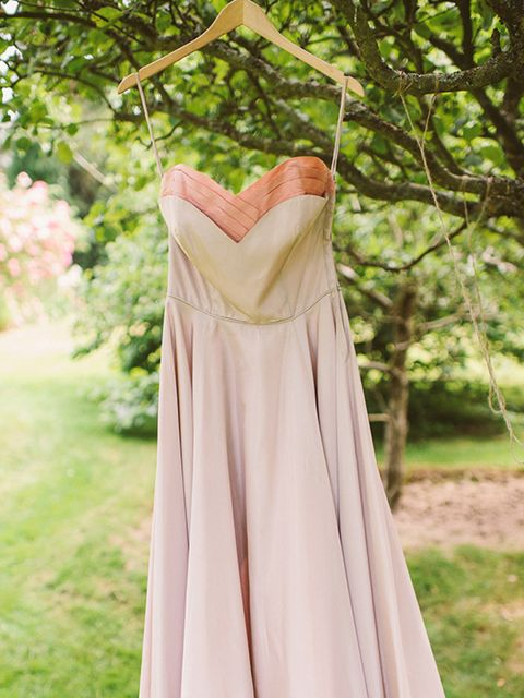 <p>I also had a second dress, as the first one wasn't a practical length for my first dance. It was this stunning pink late 1940s gown.</p>