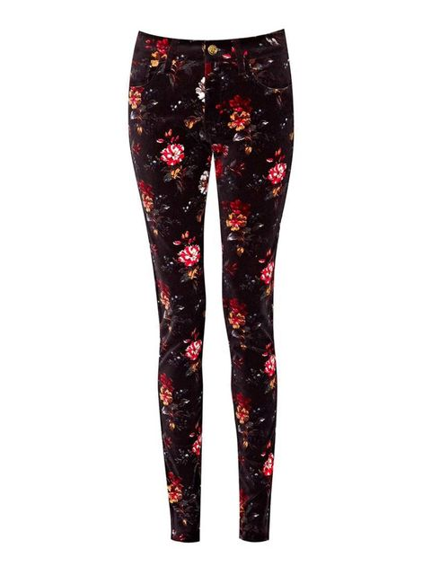 "<p><a href=""http://www.frenchconnection.com/product/74CPR/Gardini+Floral+Denim+Jeans.htm?search_keywords=floral"" target=""_blank"">French Connection</a> jeans, £80.</p>"