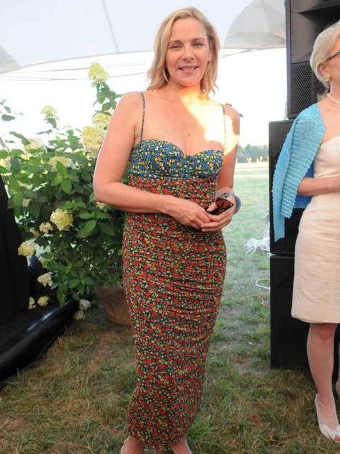 <p>Kim Catrall at Steven Klein's event in Sagaponack, New York</p>