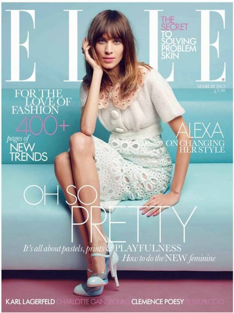 <p>The freshest, prettiest Alexa make up we ever saw, on the cover of March 2012 issue.</p>