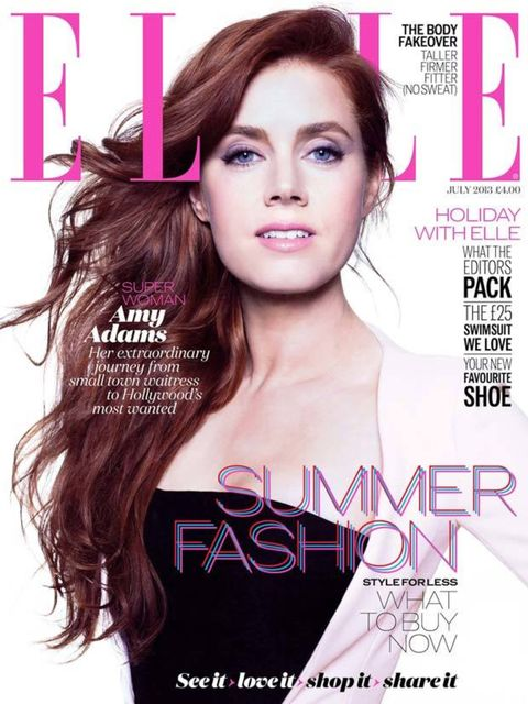 <p>Elegant, refreshing, natural: Amy Adams, July 2013.</p>