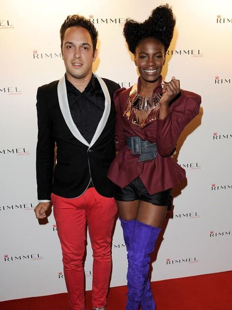 """<p>Dan Smith &amp&#x3B; The Noisettes <a href=""""http://www.elleuk.com/content/search?SearchText=Shingai+Shoniwa&amp&#x3B;SearchButton=Search"""">Shingai Shoniwa</a> at the Rimmel &amp&#x3B; <a href=""""http://www.elleuk.com/starstyle/style-files/(section)/Kate-Moss"""">Kate Moss<"""