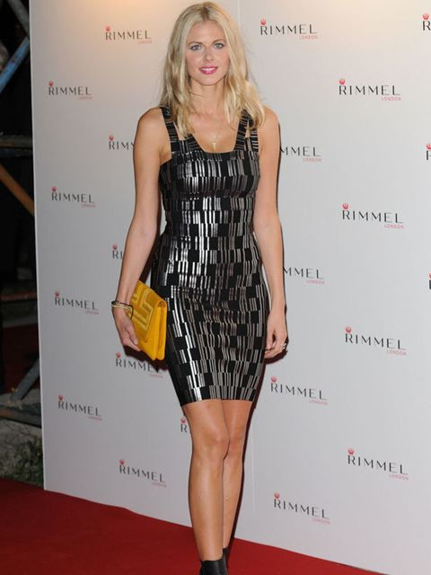 """<p><a href=""""http://www.elleuk.com/content/search?SearchText=Donna+Air&amp&#x3B;SearchButton=Search"""">Donna Air</a> opted for a skintight metallic number at the Rimmel &amp&#x3B; <a href=""""http://www.elleuk.com/starstyle/style-files/(section)/Kate-Moss"""">Kate Moss</a>"""