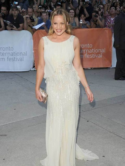 """<p>Abbie Cornish wears an <a href=""""http://www.elleuk.com/catwalk/collections/elie-saab/couture-aw-2011"""">Elie Saab</a> gown to the premiere of <em>W.E.</em> at the Toronto Film Festival on 12 September 2011.</p>"""