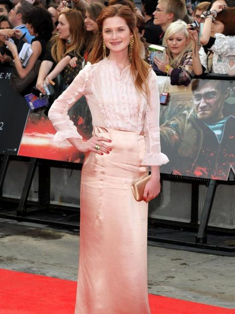 "<p><a href=""http://www.elleuk.com/content/search?SearchText=Bonnie+Wright&SearchButton=Search"">Bonnie Wright</a> in <a href=""http://www.elleuk.com/catwalk/collections/miu-miu/autumn-winter-2011"">Miu Miu</a> at the <em>Harry Potter and the Deathly Hall"