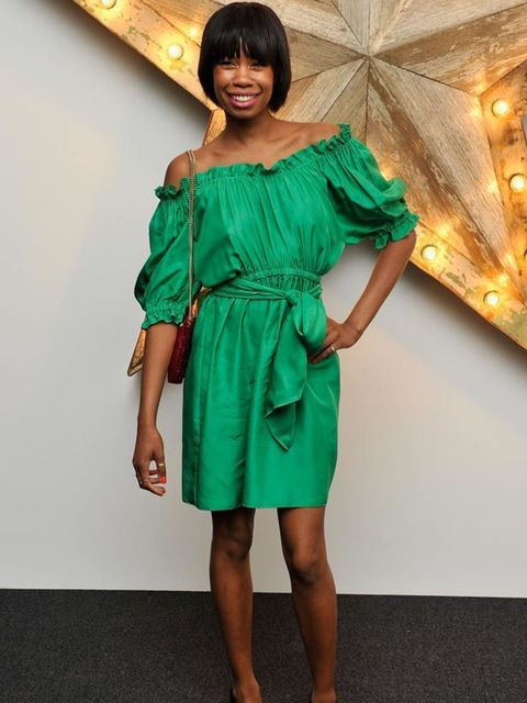 """<p><a href=""""http://www.elleuk.com/content/search?SearchText=tolulah+adeyemi&SearchButton=Search"""">Tolulah Adeyemi</a> opted for this seasons hot-trend, brights, for the Net-a-Porter Party for Dolce & Gabbana, 14 July 2011</p>"""
