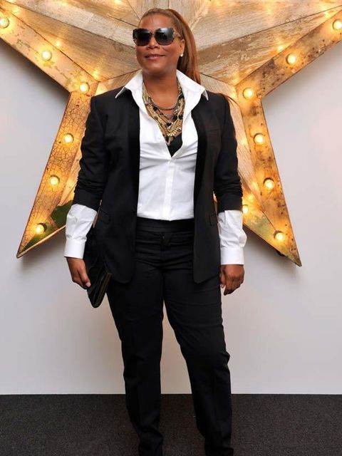 """<p>Queen Latifah teamed her <a href=""""http://www.elleuk.com/catwalk/collections/dolce-gabbana/autumn-winter-2011"""">Dolce & Gabbana</a> suit with a statement necklace the Net-a-Porter Party for Dolce & Gabbana, 14 July 2011</p>"""