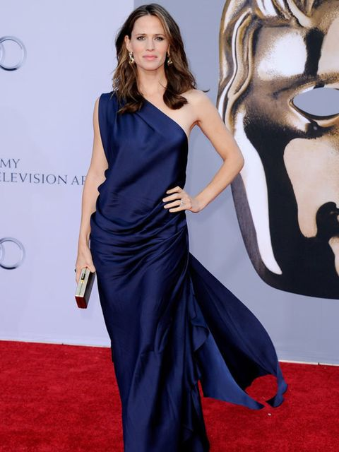"<p><a href=""http://www.elleuk.com/content/search?SearchText=Jennifer+Garner&SearchButton=Search"">Jennifer Garner</a> opted for a draped gown at the BAFTA Brits To Watch Gala at the Belasco Theatre, 9 July 2011, in LA</p>"