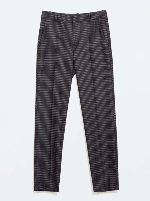 """<p>Pair your kimono with a pair of mannish trousers</p>  <p><a href=""""http://www.zara.com/uk/en/woman/trousers/checked-skinny-trousers-c269187p2212006.html"""">Zara</a>, £35.99</p>"""