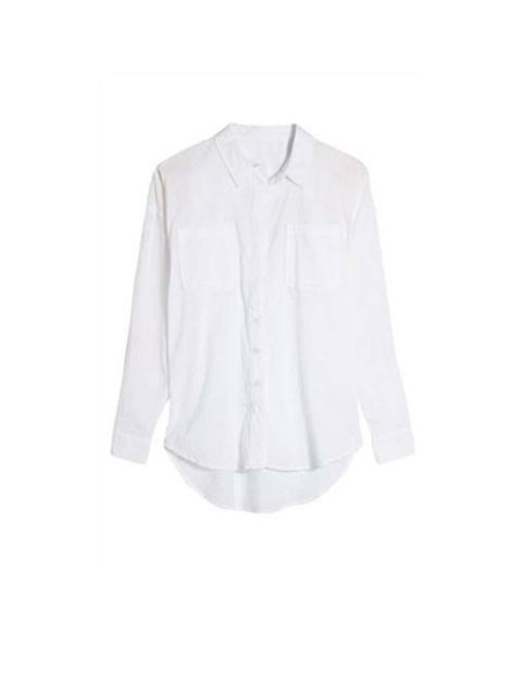 """<p>A white crisp shirt for a casual chic look</p>  <p><a href=""""http://www.next.co.uk/x54146s1#664020x54"""">Next</a>, from £22</p>"""
